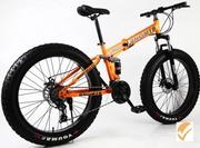 Велосипед внедорожный Fatbike на толстых колесах покрышки 26 x 4. 0